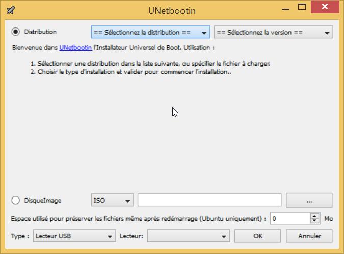 clé usb bootable grace a UNetbootin