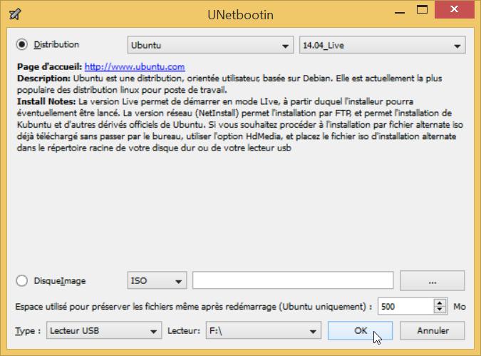 clé usb bootable linux